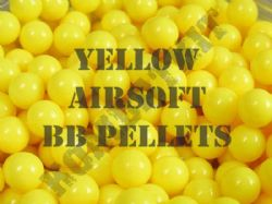 Yellow Airsoft BB Pellets